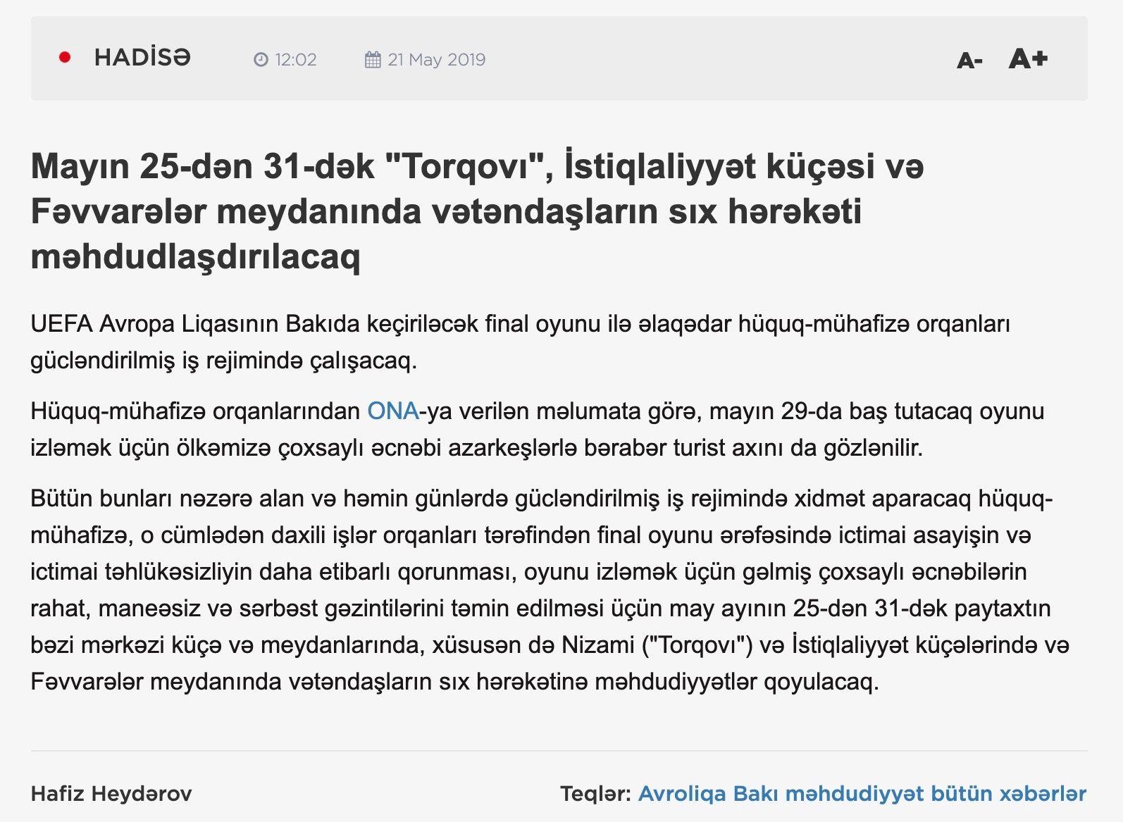"""Azərbaycanlılar """"ikinci sort"""" kimi"""
