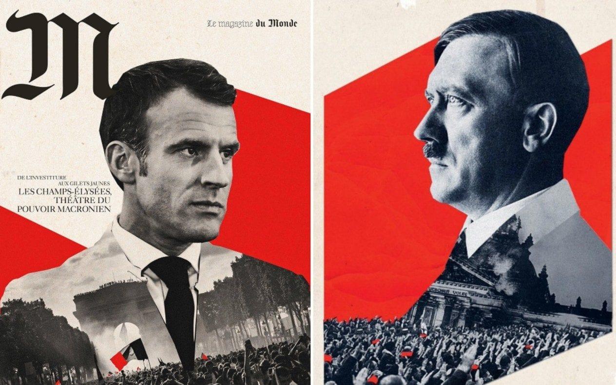 Macron Hitler