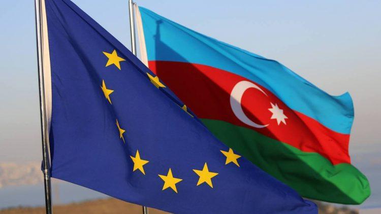 EU-Azerbaijan flag
