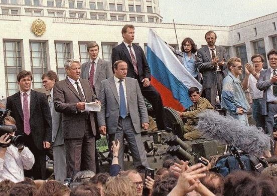 Boris-Yeltsin-reading-a-speech-on-a-tank-during-the-August-1991-communist-coup-one-of
