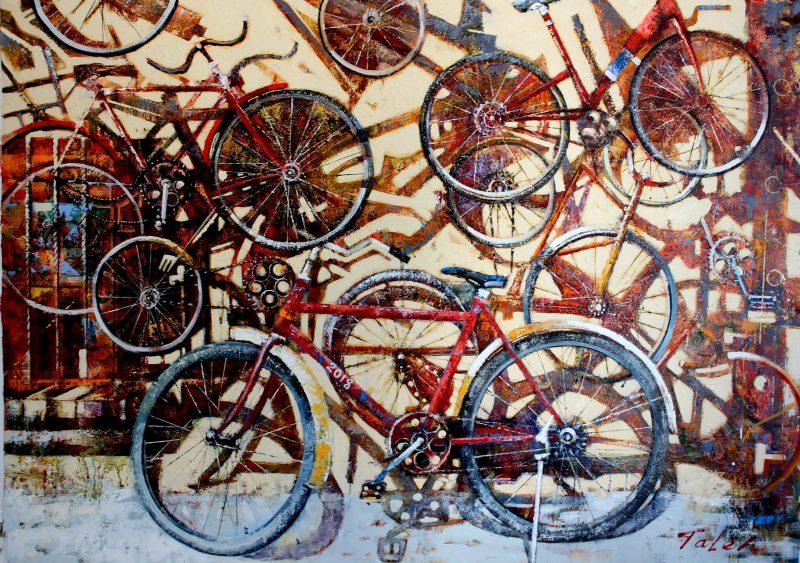 Alter Fahrräder 140 X 100-min